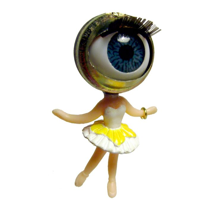 Yellow Fairy Eye Earrings Per One @Noveltylane.com