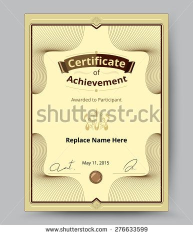 Certificate border, Certificate template vector illustration - certificate borders templates
