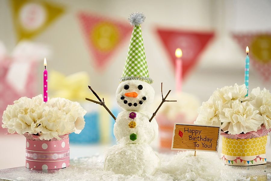 Happy Birthday Snow People Winter birthday, Diy birthday