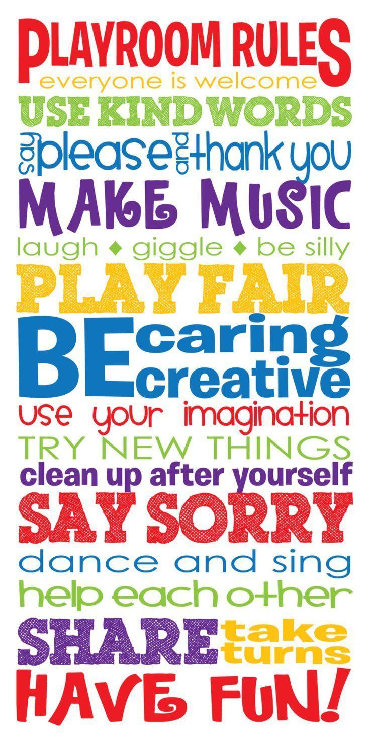 15 x 30 Playroom Rules Canvas Wrap Kinderzimmer von SadiesCanvas, 135,00 $  #canvas #childrenroomdecoration #kinderzimmer #playroom #rules #sadiescanv...#canvas #childrenroomdecoration #kinderzimmer #playroom #rules #sadiescanv #sadiescanvas #von #wrap