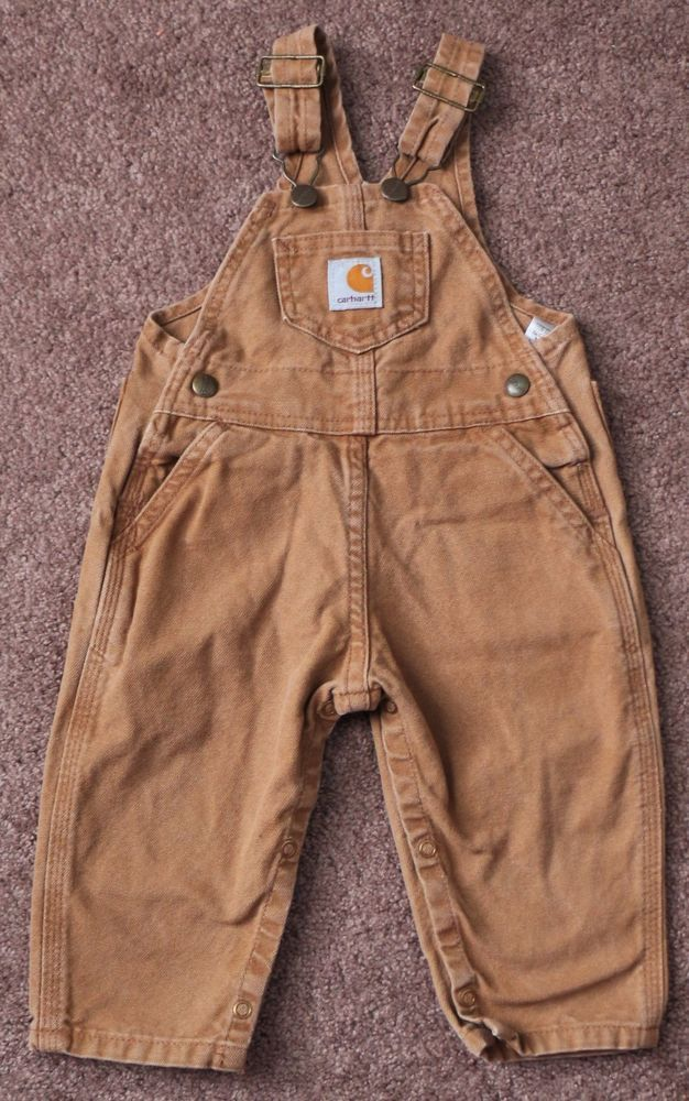 03ceca4222fce CARHARTT Toddler Boys 18M Adjustable Brown Tan Canvas Overalls Pants  Coveralls  Carhartt  Overalls  Everyday