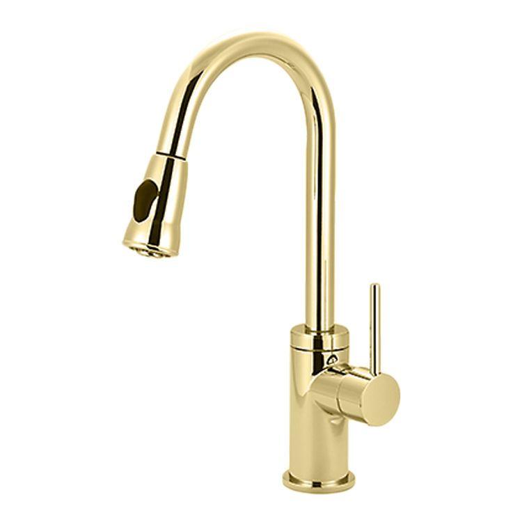 Pioneer 2mt251 Pb Motegi One Handle Pulldown Kitchen Faucet