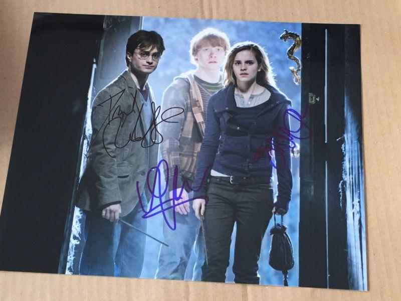 Harry potter cast autograph on 8 x 10 photo signed
