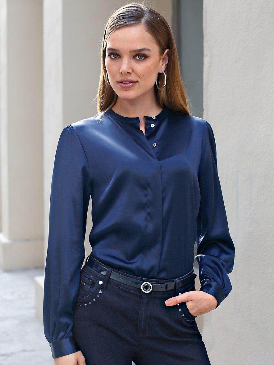 06b03c84b12 Блузки из шелка (80 фото)  с чем носить шелковые блузки