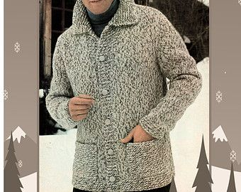 Instant Download PDF Vintage Easy Knitting Pattern to make a Mens ...