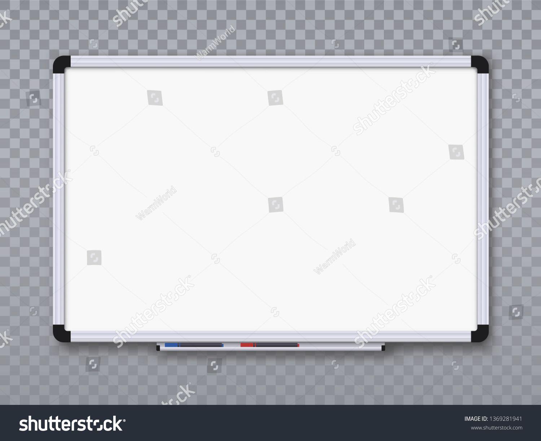Whiteboard For Markers On Transparent Background Office Board Vector Illustration Sponsored Affiliate Whiteboard Marker Transparent Background Art Logo