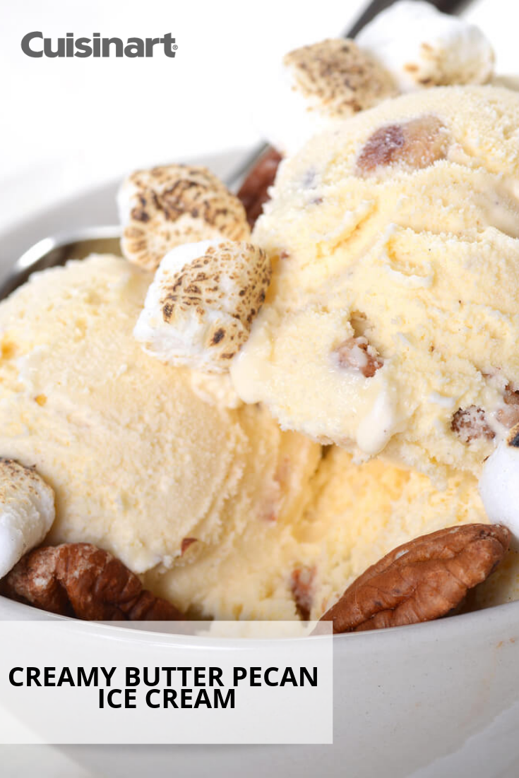 Creamy Butter Pecan Ice Cream Butter Pecan Ice Cream Ice Cream Maker Recipes Cuisinart Ice Cream Maker Recipes