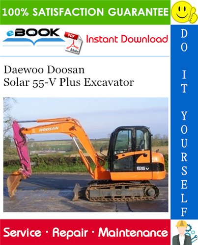 Daewoo Doosan Solar 55 V Plus Excavator Service Repair Manual Repair Manuals Daewoo Excavator