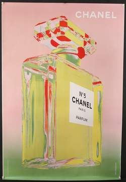 Chanel Number 5 Pink Green | Andy Warhol. Madi and jarred on the block skyhigh used a similar print in their master bedroom️More Pins Like This At #FOSTERGINGER @ Pinterest️
