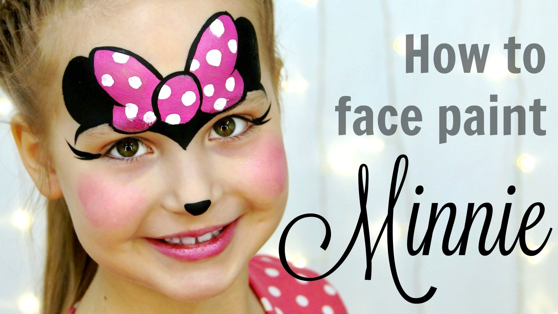 Minnie Mouse Face Painting Tutorial for Kids, one of the ...