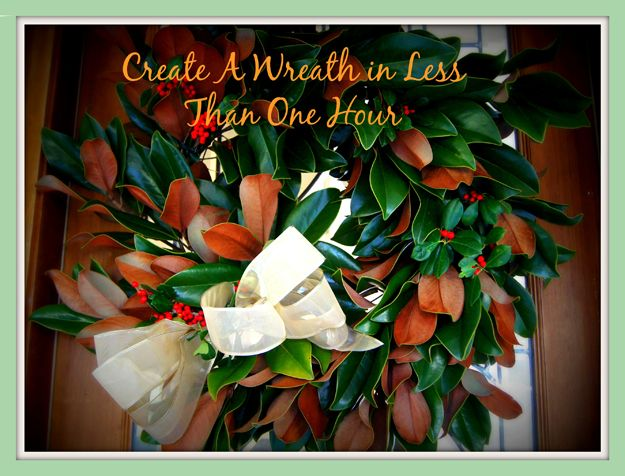 Make A Do It Yourself Holiday Magnolia Wreath In Less Than An Hour As Authentic Florida Takes You Through An Easy Step By Step Craft Project Sav Holiday Wreaths