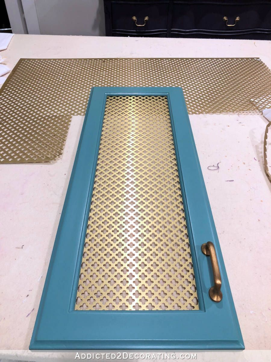 How To Add Wire Mesh Grille Inserts Cabinet Doors The