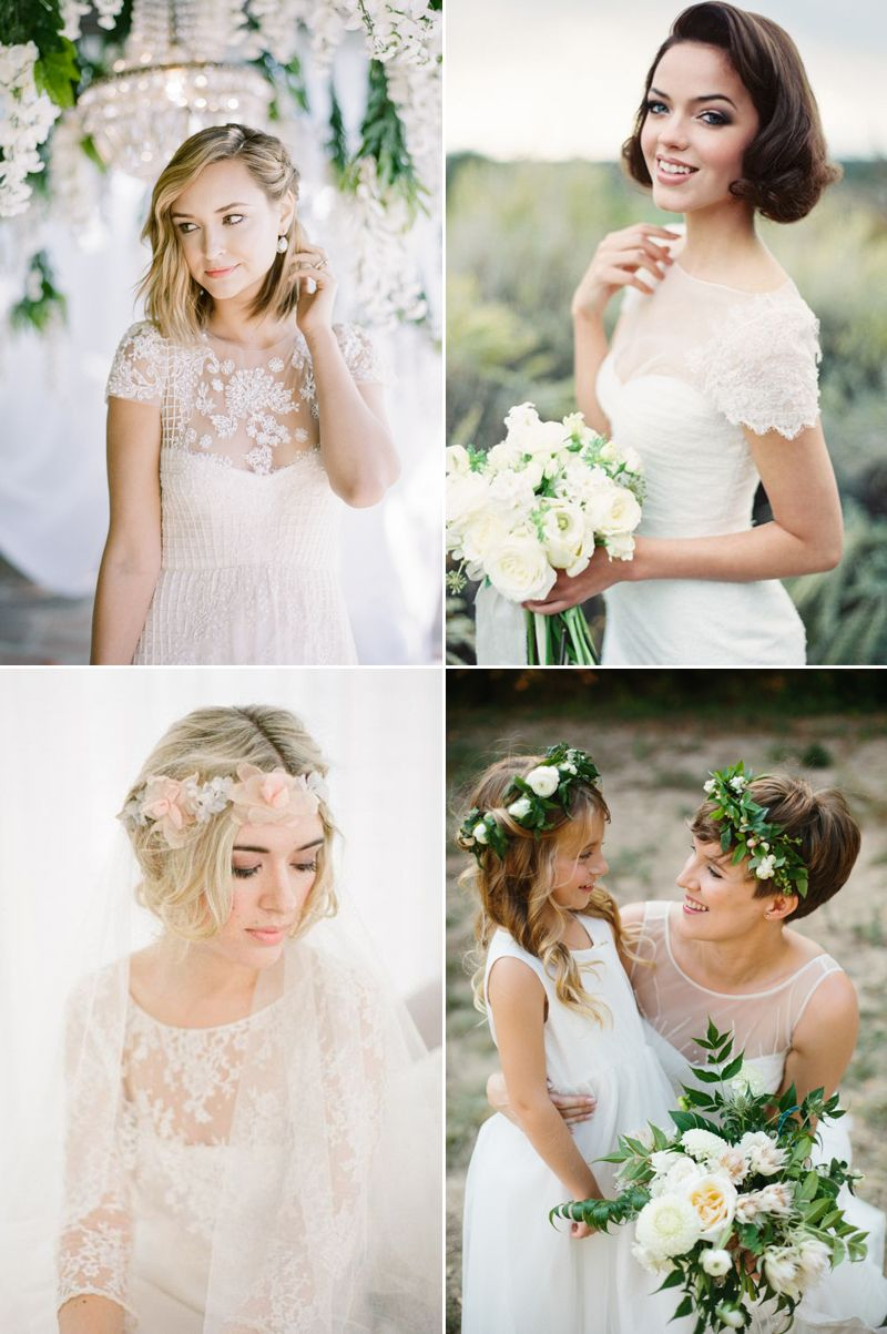 6 Beautiful Wedding Dress Styles For Brides With Short Hair Wedding Dress Styles Beautiful Wedding Dresses