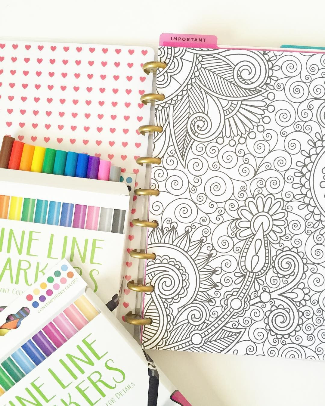 Added coloring pages to my happy planner notebook i 39 m so Coloring book planner