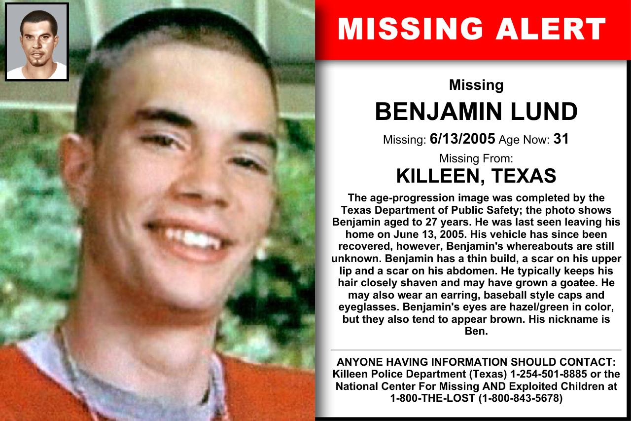 Image result for benjamin lund missing