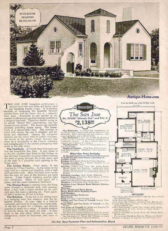 1910 Bungalow Floor Plan 1921 Modern Bungalow Type House C
