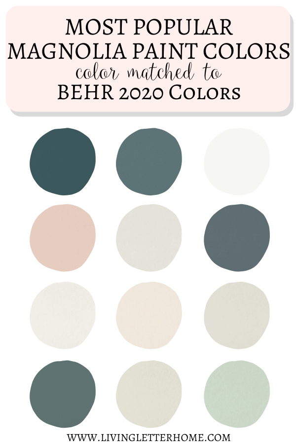 Behr 2020 Paint Colors Matched To Magnolia In 2020 Matching