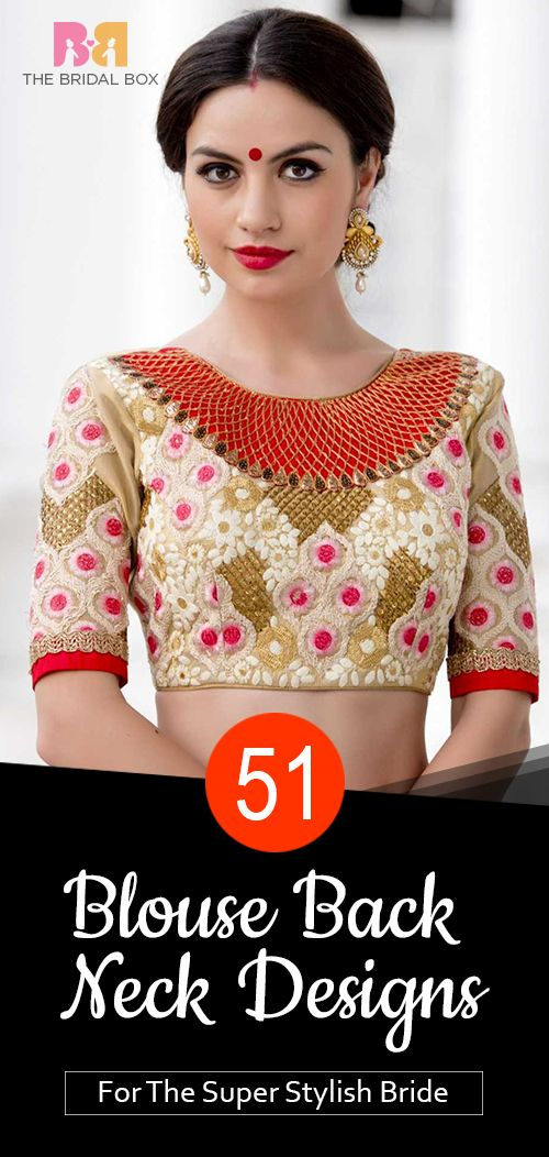 18f00b473016c3 Blouse Back Neck Designs: Top 54 Trendy Designs   Fashion likes 4all ...