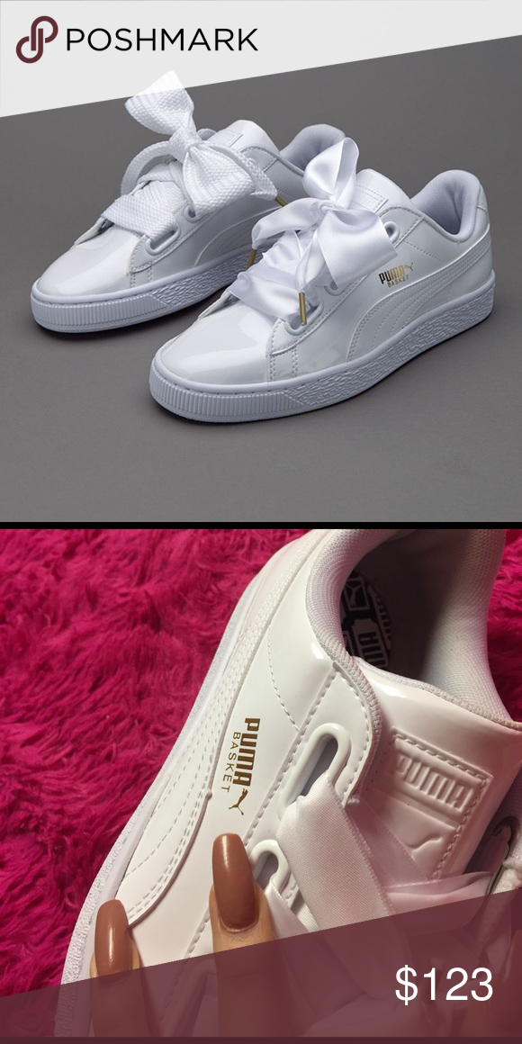 88001815db4 Rihanna puma bow cute white sneakers Kylie Jenner New never worn comes with  box Puma Shoes Sneakers