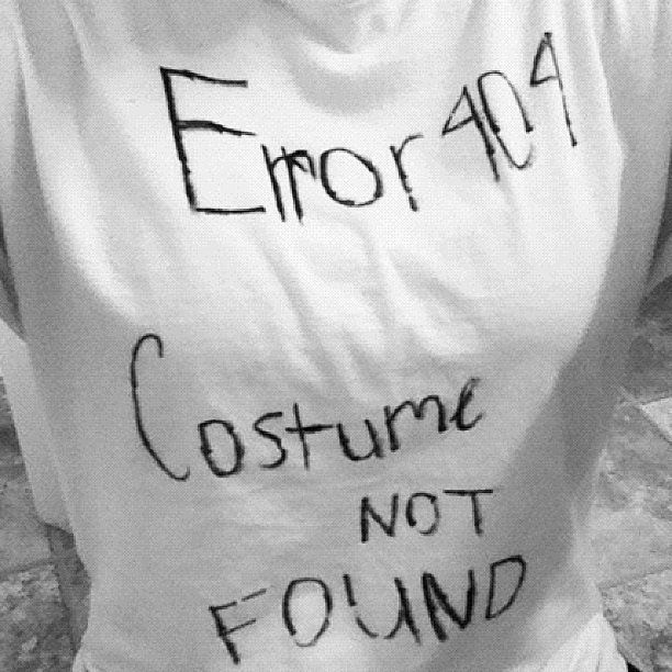 Error Code Homemade halloween, Halloween costumes and Costumes - cheap homemade halloween costume ideas