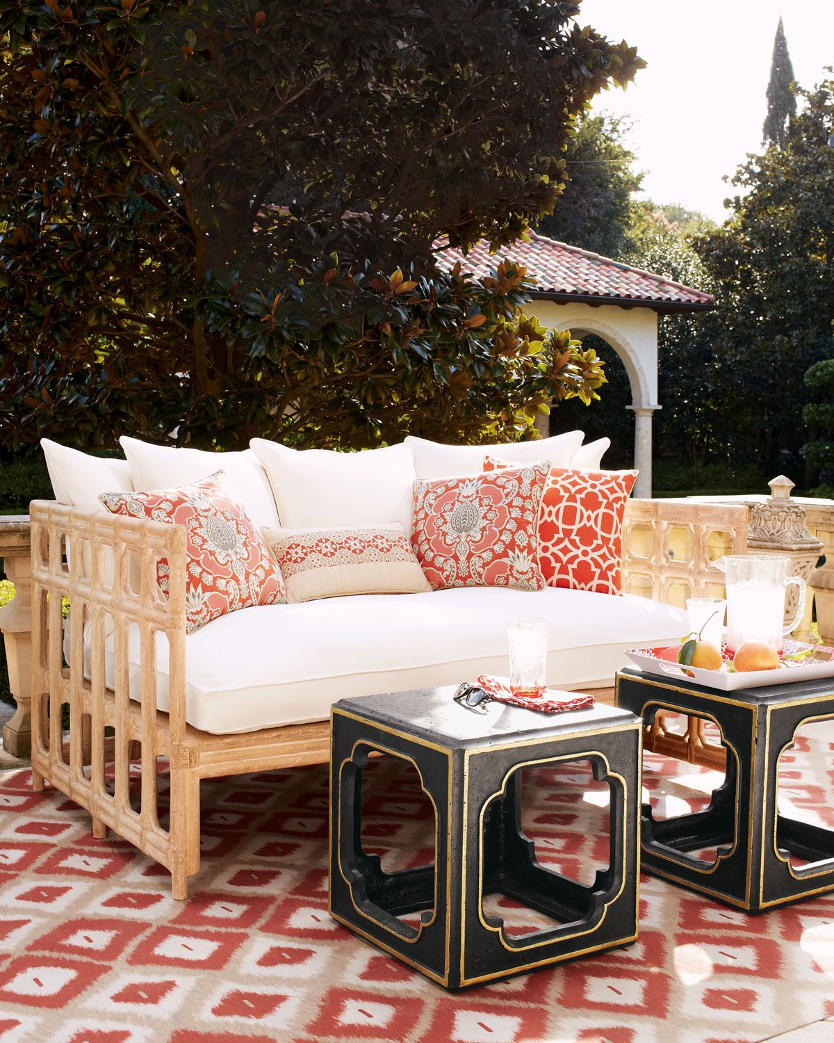 moroccan garden furniture. Shop Faux-Bamboo Outdoor Sofa \u0026 Cushion Set At Horchow, Where You\u0027ll Find New Lower Shipping On Hundreds Of Home Furnishings And Gifts. Moroccan Garden Furniture