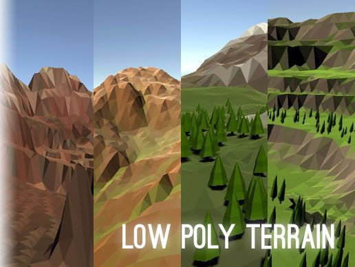 Low Poly Terrain is a simple-to-use asset for generating faceted