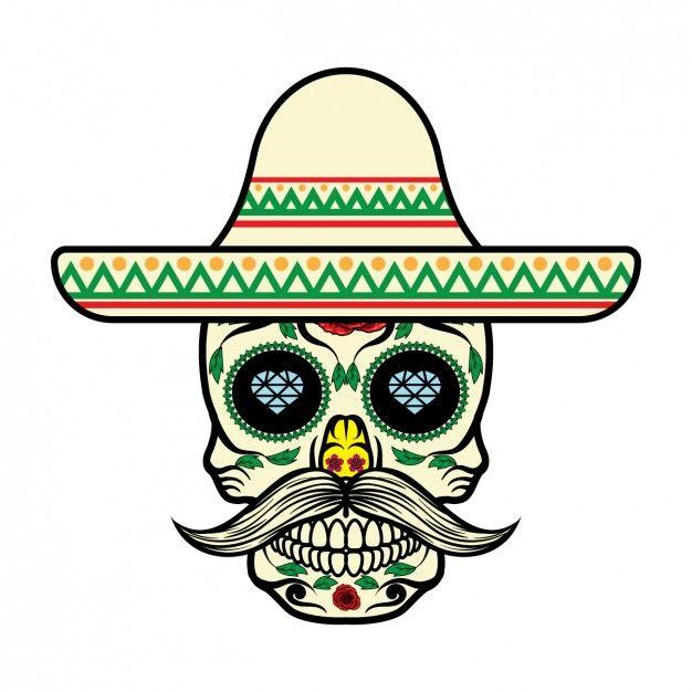 Diseño de calavera mexicana Vector Gratis | Calaveras ...