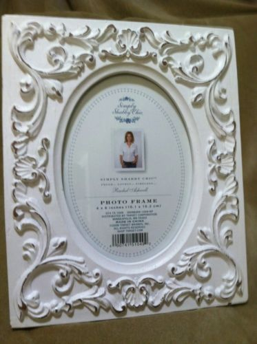 Simply Shabby Chic By Rachel Ashwell White Picture Frame, Holds 4x6 Photo