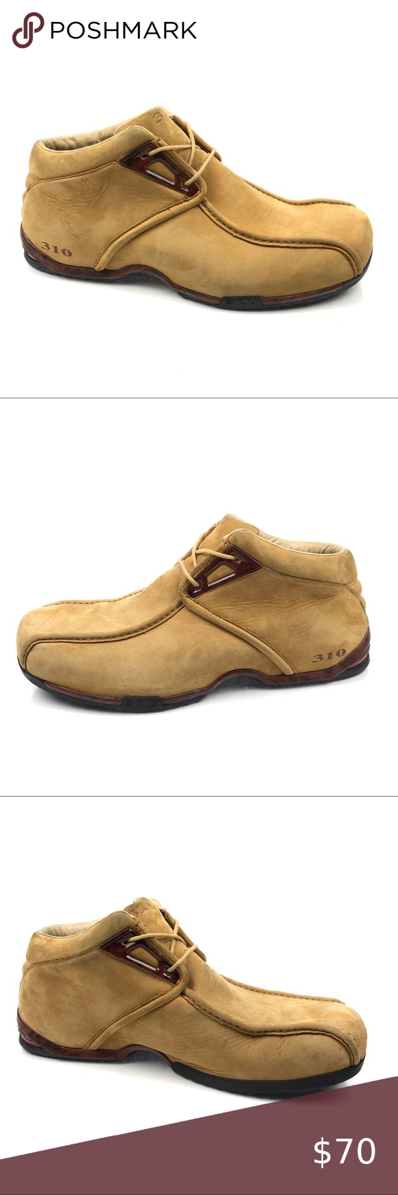 """310 Motoring Suede Chukka Boots 310 Motoring Wheat Tan Suede Leather Woodgrain Chukka Boots 0904   Mens Size 13  """"Very Good Pre-owned Condition - Please zoom in on photos for detailed condition. Some stains throughout.""""  A41 - 014020812 310 Motoring Shoes Chukka Boots"""