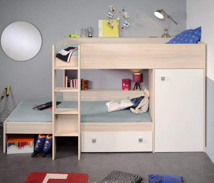 Cabin Bedroom Fitted Furniture: Modular Bunk Bed For Kids L Shaped Or Parallel With