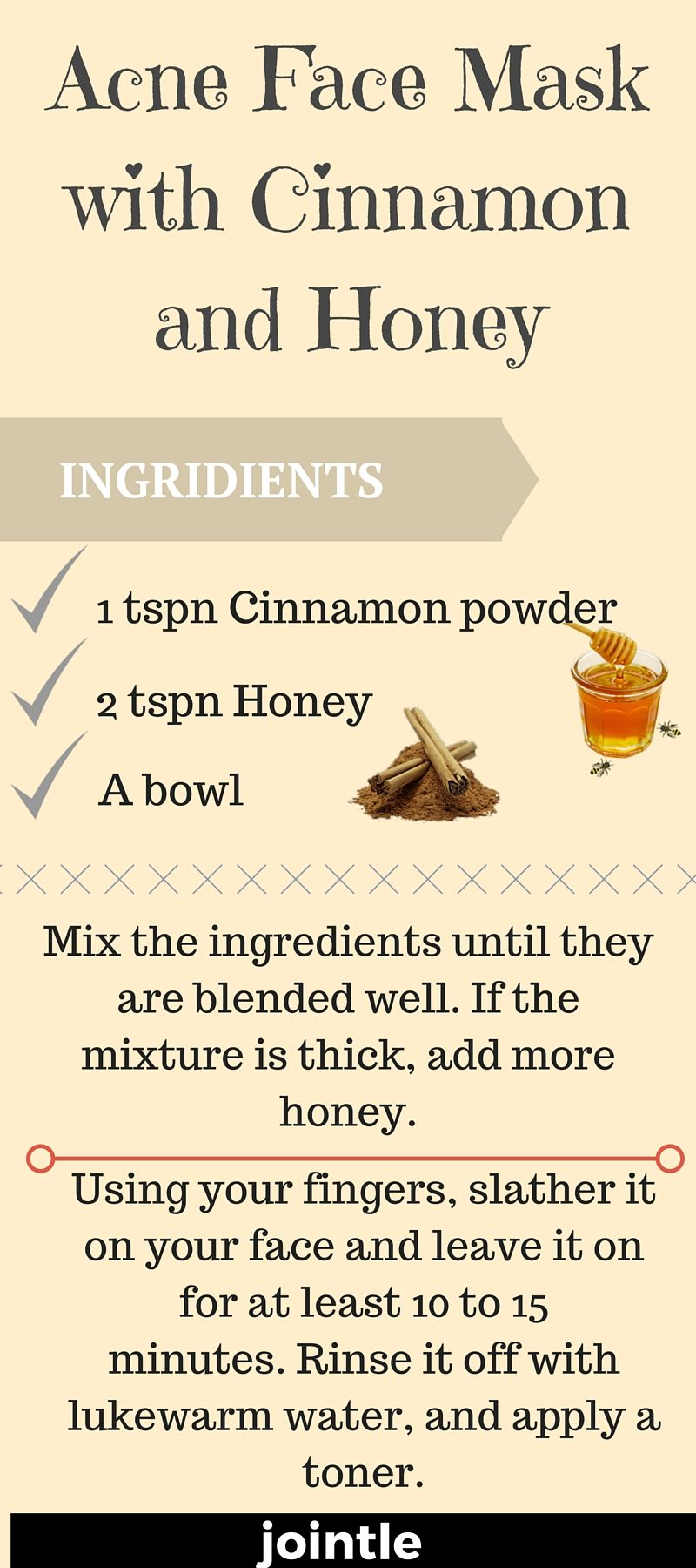 Face Mask with Cinnamon and Honey will help you to get rid