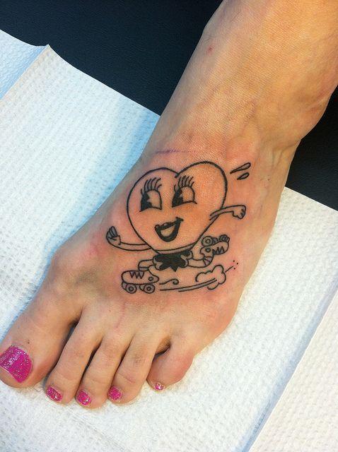 Heart Valentine Roller Skate Tattoo | Baby Lou Tattoo | Pinterest
