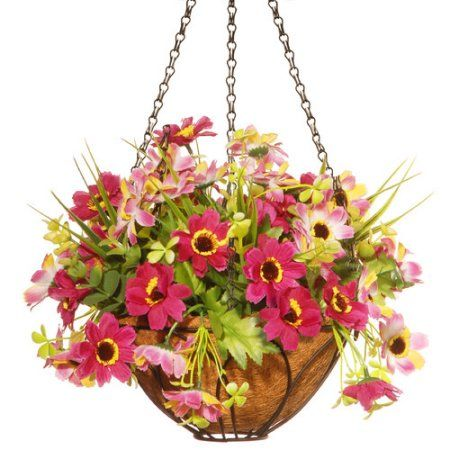 Home Artificial Hanging Baskets Artificial Plant Wall Small