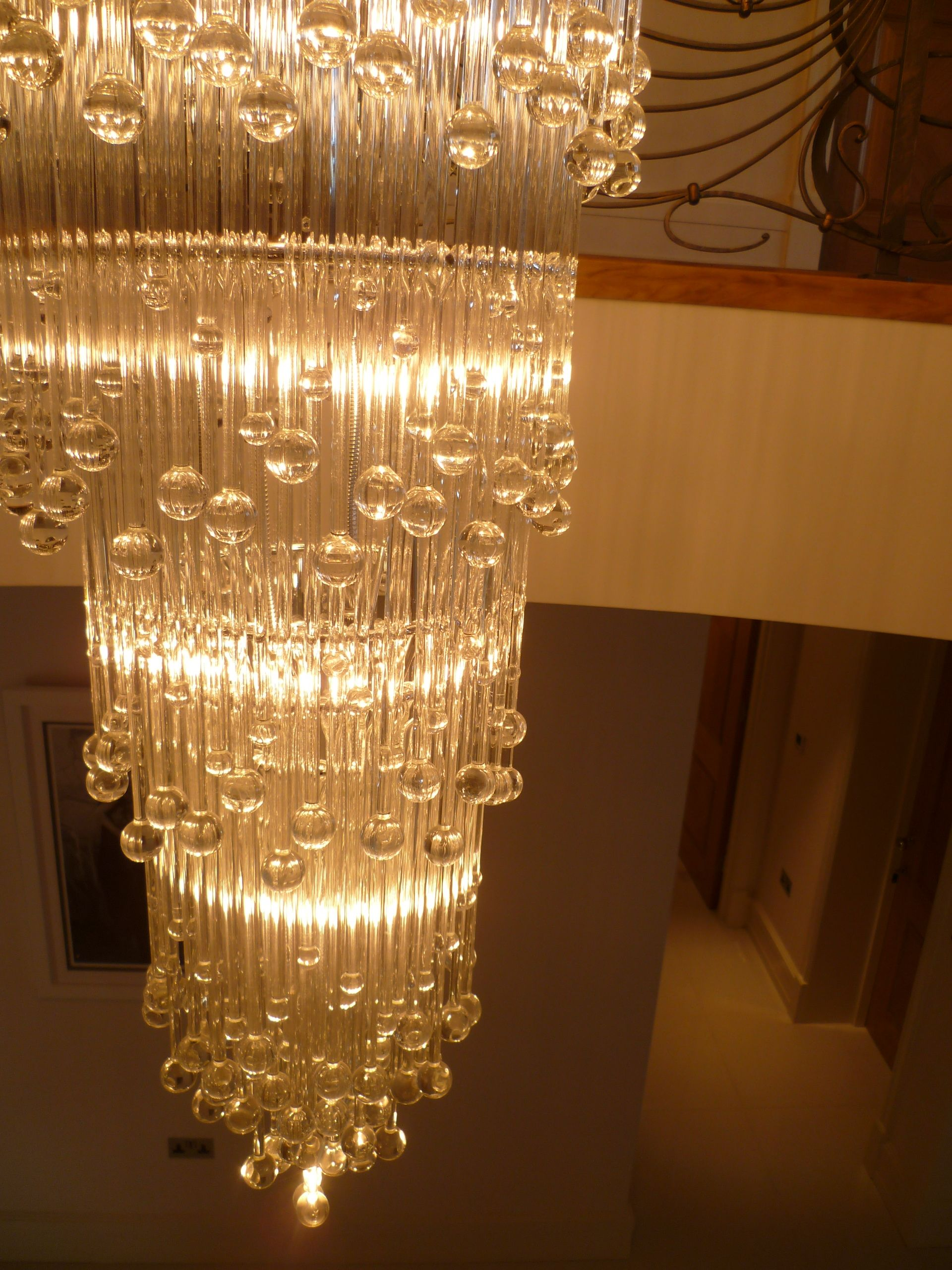 Bespoke glass chandelier by rocco borghese lampes exquis bespoke glass chandelier by rocco borghese arubaitofo Images