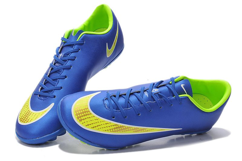 On Sale Nike Mercurial Victory V TF Dark Blue Fluorescent Yellow $61.99