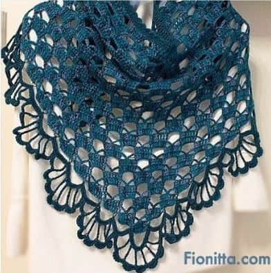 Patron para hacer un chal triangular a crochet03 | Crochet and ...