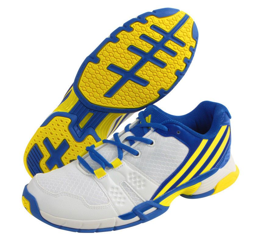 pick up 75aca fd866 adidas Volley Team 4 Mens Indoor Shoes Badminton Volleyball White NWT  BA9677 adidas VolleyballShoes