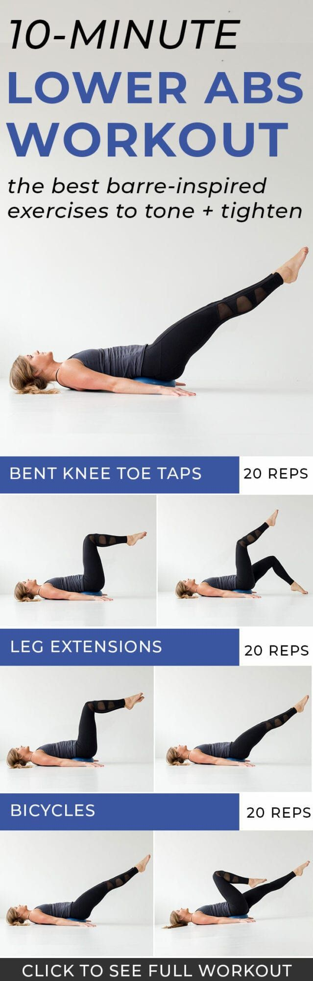 Lower Abs Exercises For Flat + Toned Stomach