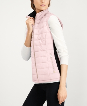 Calvin Klein Quilted Puffer Vest Pink Xs Quilted Puffer Vest Blazer Jackets For Women Womens Puffer Vest