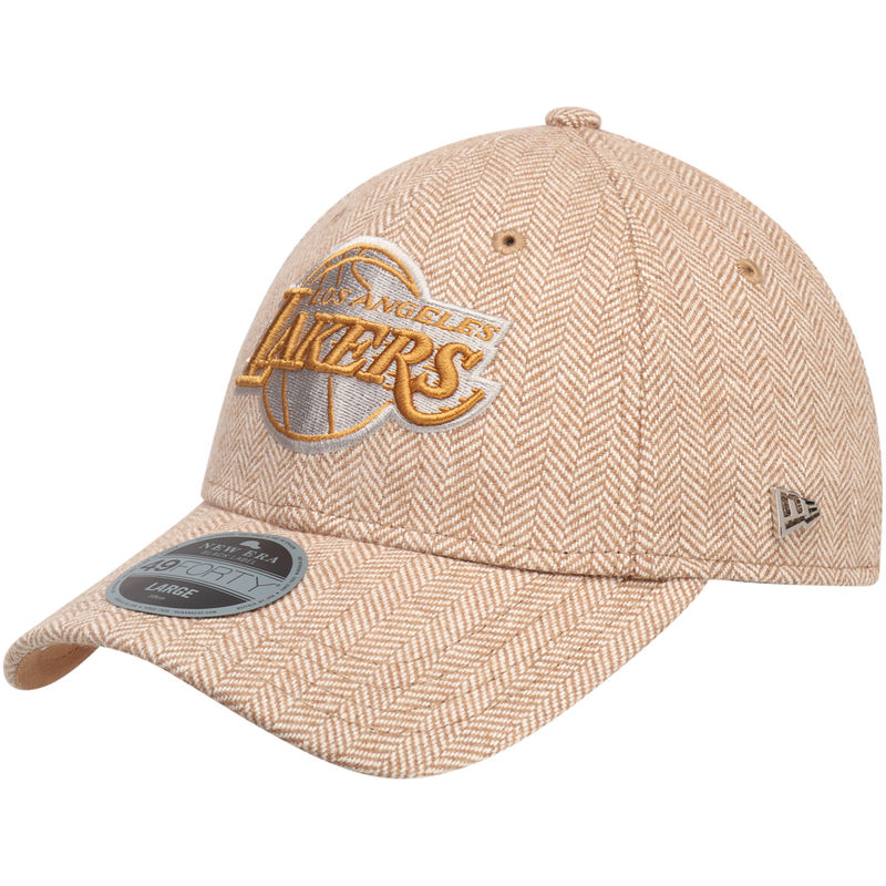 fa0d3bd60524d3 Los Angeles Lakers New Era Tweed Black Label Series 49FORTY Fitted Hat -  Gold