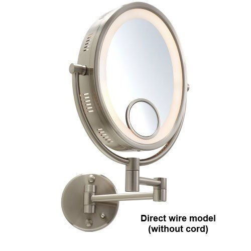 Jerdon Hl9515n 10 Oval Nickel Finish Halo Lighted Wall Mount Mirror Hardwired Model By Jerdon Mirrors Wall Mounted Makeup Mirror Wall Mounted Mirror Mirror