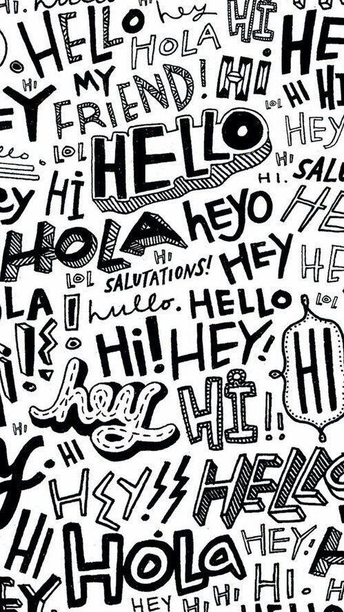 Hello Wallpaper And Hi Afbeelding Hello Wallpaper Wallpaper Backgrounds Graffiti Wallpaper