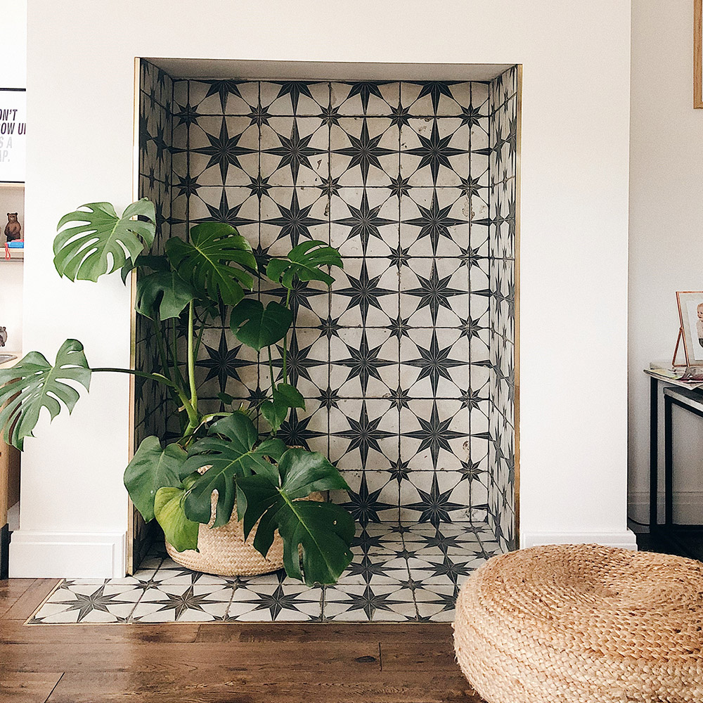 Photo of Charlotte Turned Her Fireplace Into A Patterned Feature