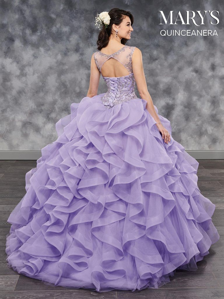 Illusion Ruffled Quinceanera Dress By Mary S Bridal Mq2035 In 2021 Dresses Quinceanera Dresses Blush Pretty Quinceanera Dresses [ 1024 x 768 Pixel ]