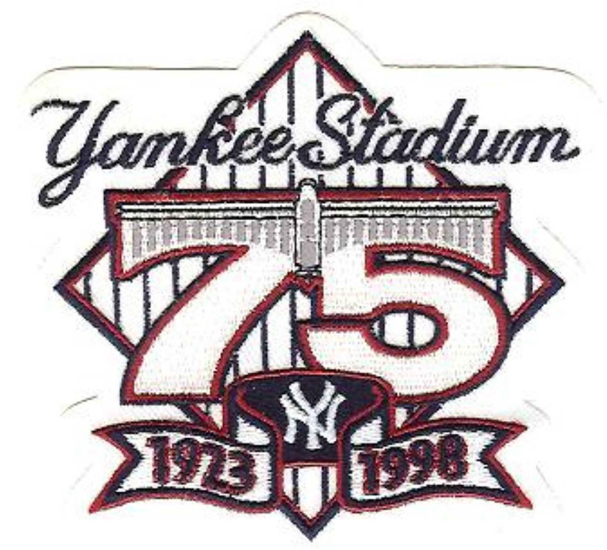 Yankee Stadium 75th Anniversary New York Yankees Stadium Yankee Stadium Mlb Logos