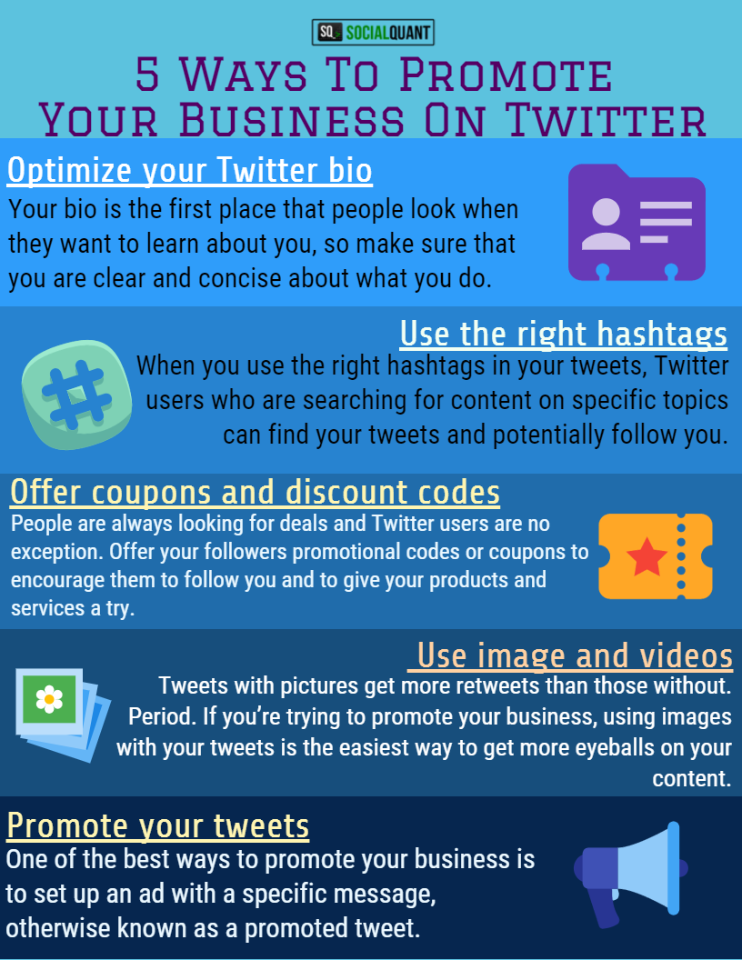 The Top Five Ways You Can Use Twitter To Promote Your Business Twitter Marketing Strategy Twitter For Business Marketing Strategy Social Media