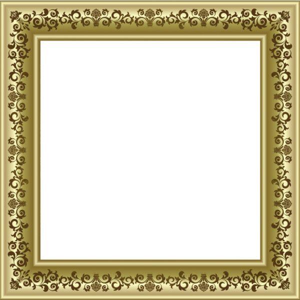 Gold Vintage Frame 1 Png Liked On Polyvore Featuring Frames Borders And Picture Frame Druckbare Bilder Fotorahmen Bilderrahmen