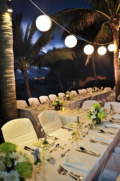 Beautiful outside wedding set-up