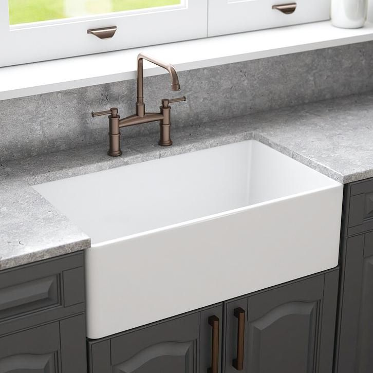 Crestwood 33 Fireclay Farmhouse Sink White Cw Mod 33 White