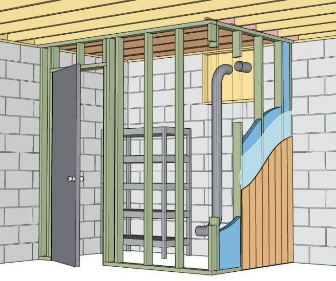 construire votre propre chambre froide caveau l gumes cave a vins chambre froide. Black Bedroom Furniture Sets. Home Design Ideas